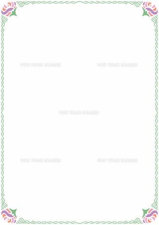 花の飾り罫の素材 [FYI00427241]