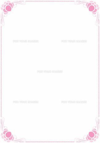 花の飾り罫の素材 [FYI00427247]