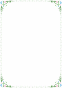 花の飾り罫の素材 [FYI00427253]