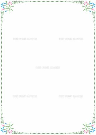 花の飾り罫の素材 [FYI00427254]