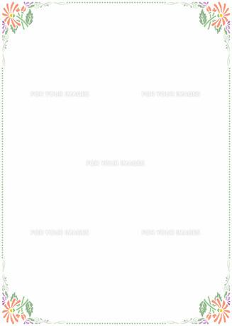 花の飾り罫の素材 [FYI00427259]