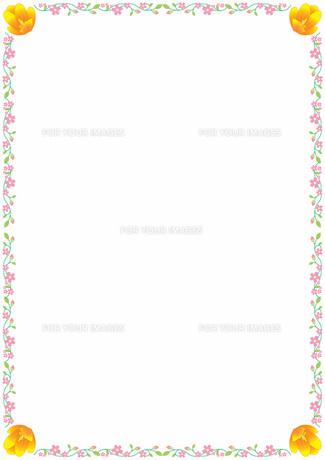 花の飾り罫の素材 [FYI00427260]