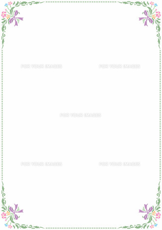 花の飾り罫の素材 [FYI00427261]