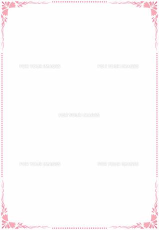 花の飾り罫の素材 [FYI00427265]