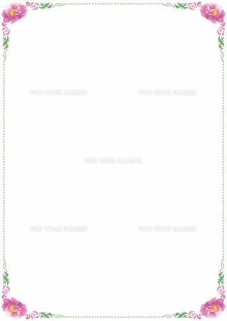 花の飾り罫の素材 [FYI00427266]