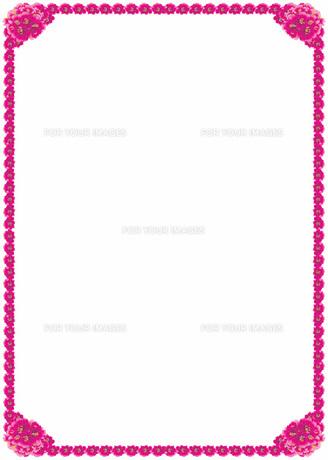 花の飾り罫の素材 [FYI00427273]