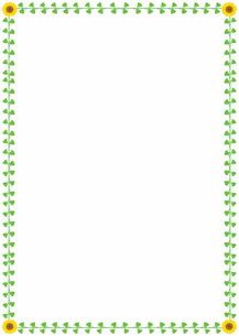 花の飾り罫の素材 [FYI00427278]