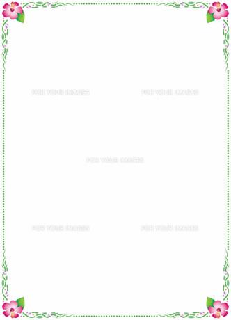 花の飾り罫の素材 [FYI00427280]