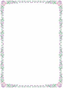 花の飾り罫の素材 [FYI00427285]