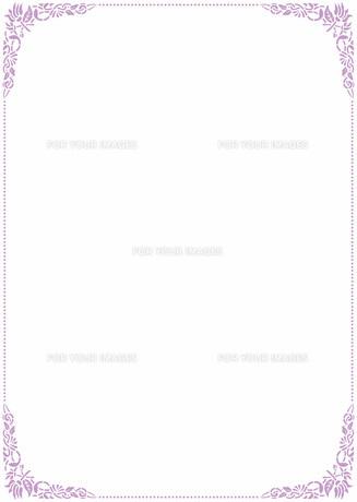 花の飾り罫の素材 [FYI00427288]