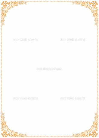 花の飾り罫の素材 [FYI00427290]