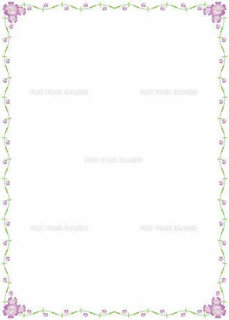 花の飾り罫の素材 [FYI00427292]