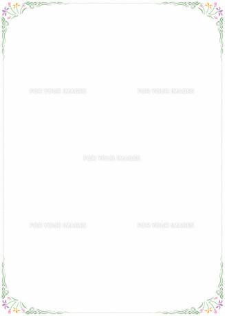 花の飾り罫の素材 [FYI00427305]