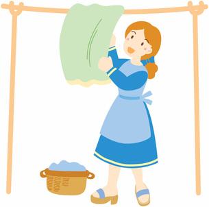 洗濯する女性の写真素材 [FYI00427413]