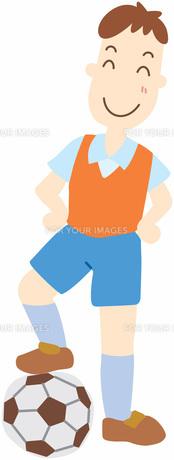 サッカーの男の子の写真素材 [FYI00427523]
