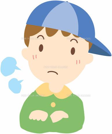怒っている男の子の写真素材 [FYI00427530]