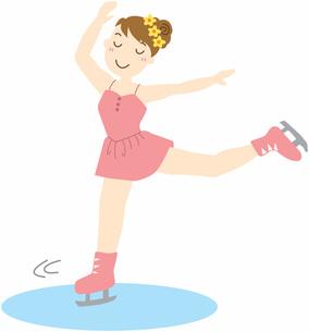 スケートを滑る女の子の写真素材 [FYI00427537]