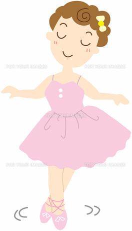 バレエを踊る女の子の写真素材 [FYI00427548]