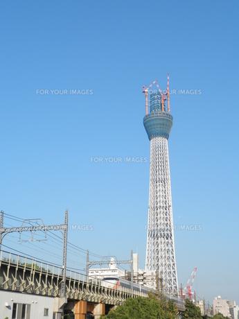 東京スカイツリーとスペーシアの写真素材 [FYI00427718]