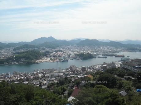 千光寺公園から眺める尾道市街の写真素材 [FYI00427958]
