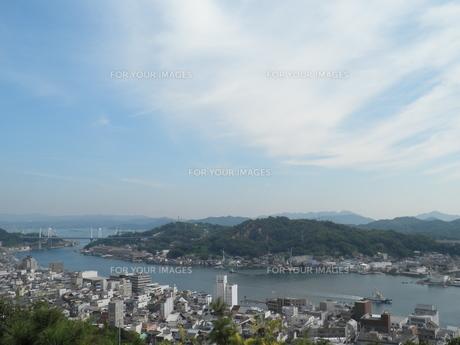 千光寺公園から眺める尾道市街の写真素材 [FYI00427968]