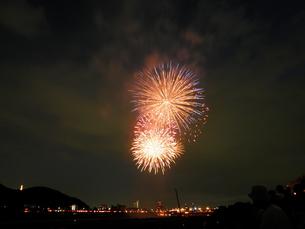 長良川全国花火大会の写真素材 [FYI00428039]