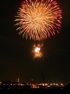 長良川全国花火大会の写真素材 [FYI00428075]