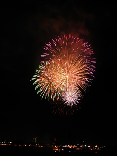 長良川全国花火大会の写真素材 [FYI00428082]