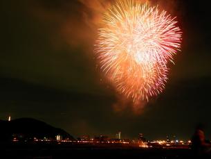 長良川全国花火大会の写真素材 [FYI00428099]