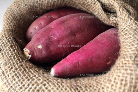 麻袋とサツマイモの素材 [FYI00428309]