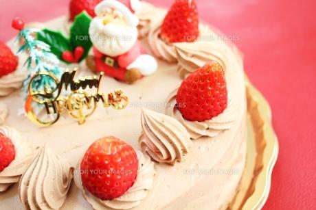 クリスマスケーキの写真素材 [FYI00428577]