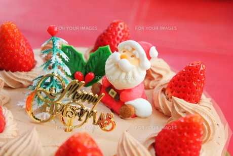 クリスマスケーキの写真素材 [FYI00428583]