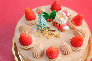 クリスマスケーキの写真素材 [FYI00428587]