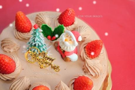 クリスマスケーキの写真素材 [FYI00428596]