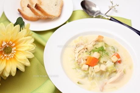 春キャベツと鶏肉のスープの素材 [FYI00428613]