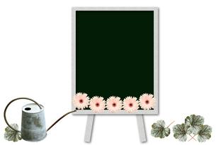 黒板とブリキのジョウロの素材 [FYI00428693]