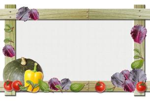 野菜のフレームの写真素材 [FYI00428706]