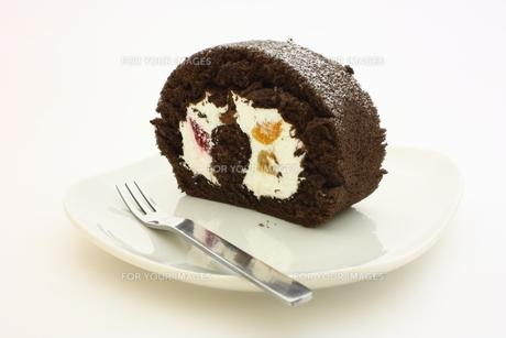 ロールケーキの写真素材 [FYI00428965]