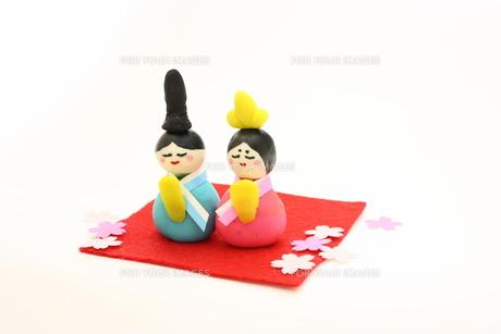 手作り雛人形の写真素材 [FYI00428970]