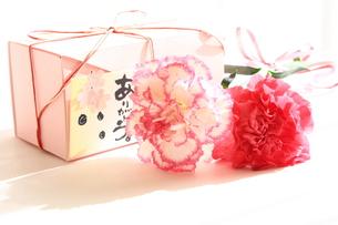 プレゼントとカーネーションの写真素材 [FYI00428978]