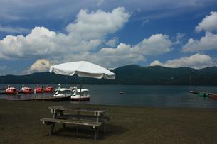 山中湖畔の写真素材 [FYI00428995]