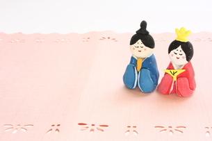 紙粘土で手作りひな人形の写真素材 [FYI00429012]