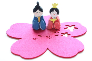 紙粘土手作りひな人形の写真素材 [FYI00429019]
