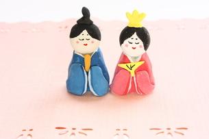 紙粘土で手作りひな人形の写真素材 [FYI00429021]