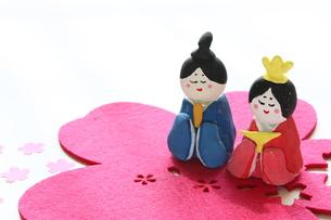 紙粘土手作りひな人形の写真素材 [FYI00429022]