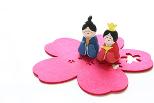 紙粘土手作りひな人形の写真素材 [FYI00429027]