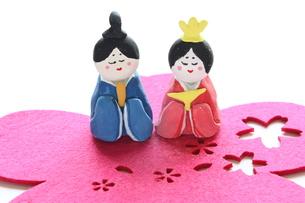 紙粘土手作りひな人形の写真素材 [FYI00429028]