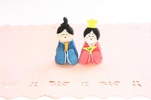 紙粘土で手作りひな人形の写真素材 [FYI00429030]