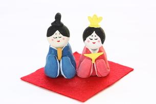 紙粘土手作りひな人形の写真素材 [FYI00429032]