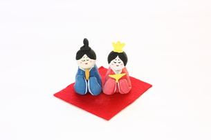 紙粘土手作りひな人形の素材 [FYI00429033]